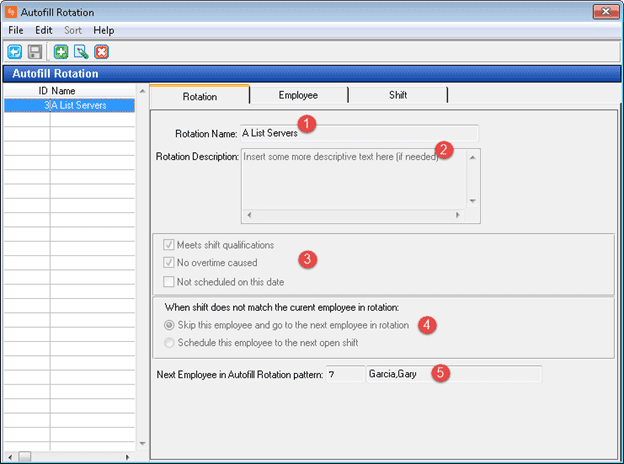 There are two steps: Configuring the Rotation Pattern(s) and using the tool day-to-day